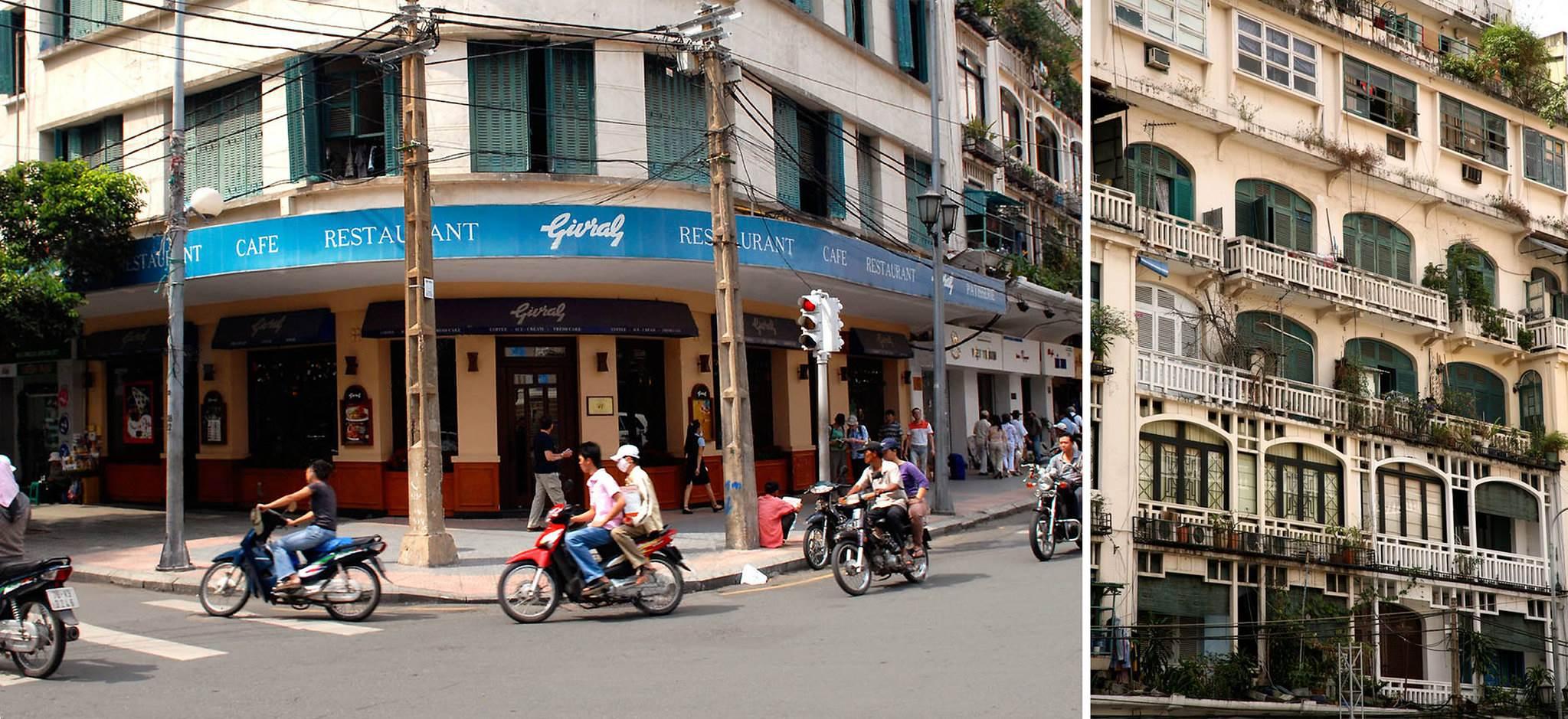 Cafe Givral góc Lê Lợi-Tự Do xưa nay là Lê Lợi - Đồng Khởi