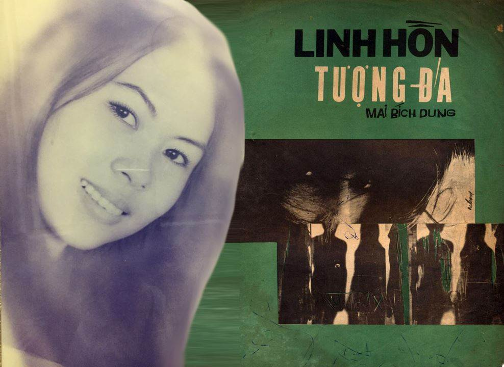 Bìa Linh Hồn Tượng Đá - cùng ảnh chị Lưu Dung Anh ngày đó