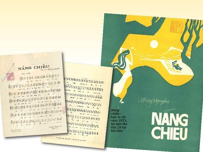 Nắng chiều - bản in rời năm 1971, tái bản lần thứ 10 tại Sài Gòn