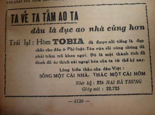 Quảng cáo Hòm Tobia trên báo