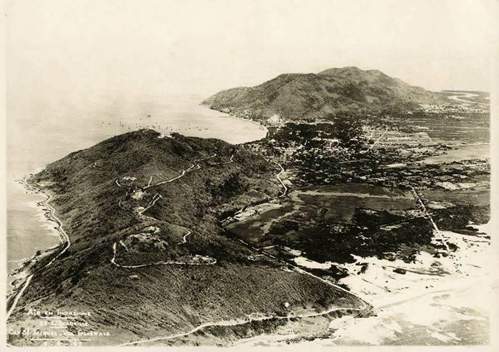 Vue aérienne du Cap St Jacques 1937 Không ảnh Vũng Tàu năm 1937