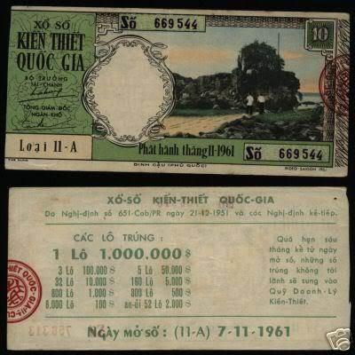 Tờ vé số ngày 07/11/1961