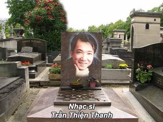 Ngôi mộ đơn sơ của nhạc sỹ Trần Thiện Thanh