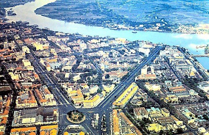 Saigon 1959-1960 - Không ảnh khu vực Bến Nghé.
