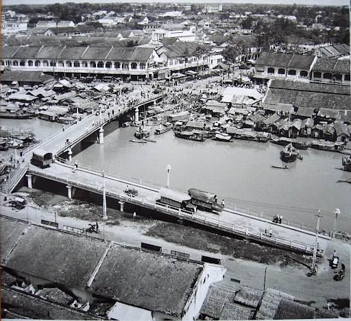 Cầu Muối hay còn được gọi là Cầu Ông Lãnh. Ảnh chụp đầu thập niên 1950