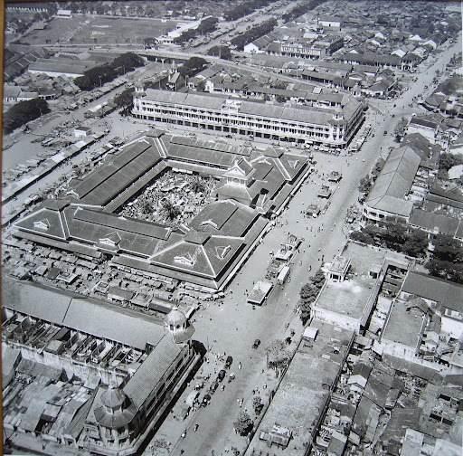 Ảnh chụp Chợ Bình Tây vào đầu thập niên 1950