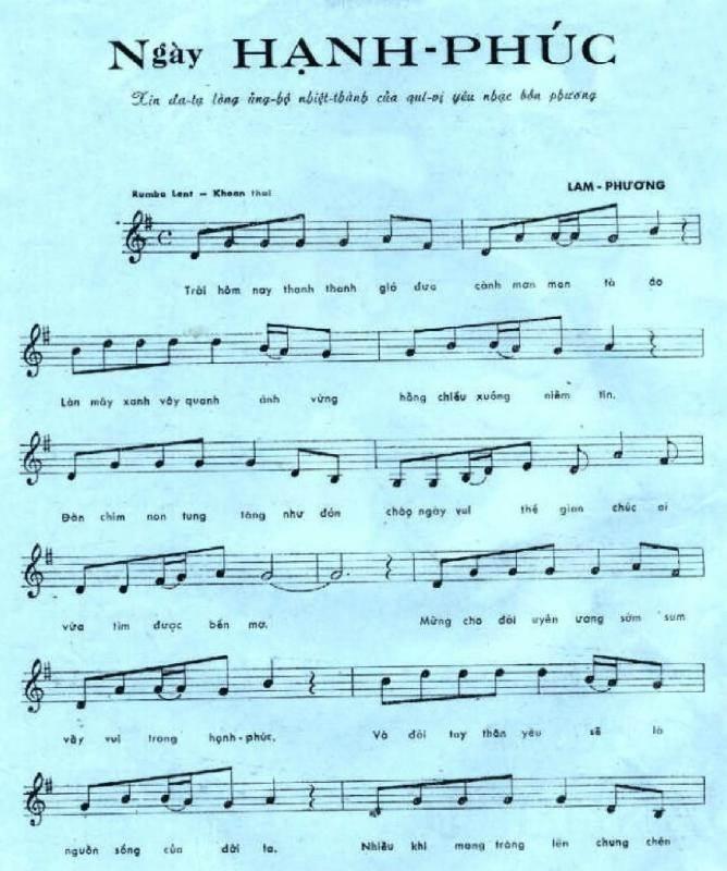 Sheet nhạc ngày hạnh phúc