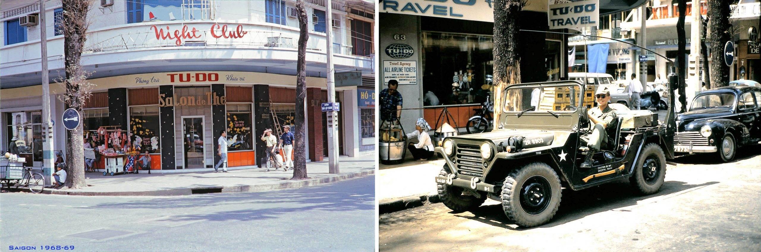 SAIGON 1968-69 - Nhà hàng & phòng trà Tự Do góc Tự Do-Thái Lập Thành