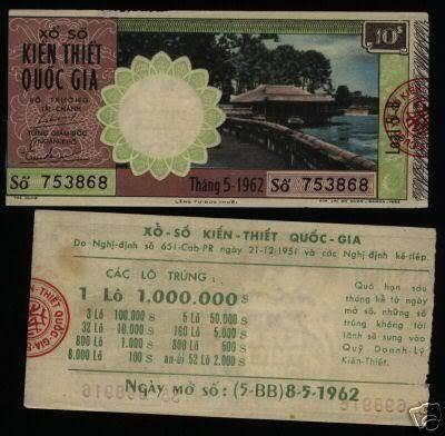 Vé số tháng 5 năm 1962