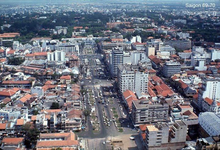 Saigon 1969-1970 - Không ảnh khu vực trung tâm Sài Gòn.