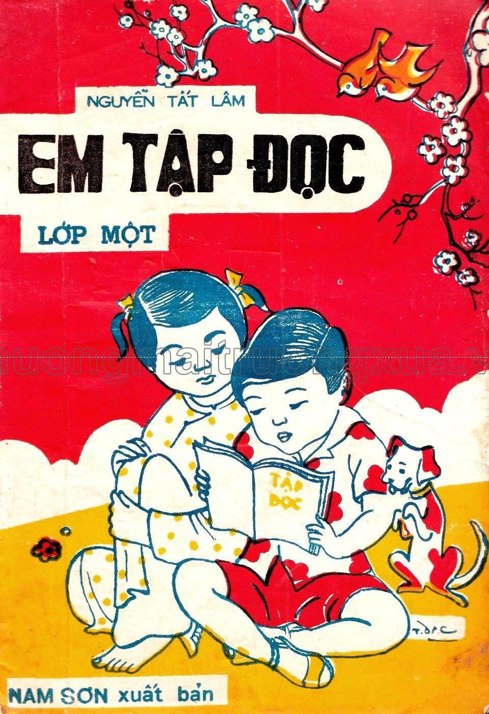 Em tập đọc lớp 1 (1971) do Nam Sơn xuất bản