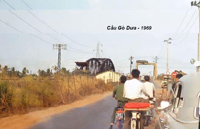 Cầu Gò Dưa ở Thủ Đức năm 1969