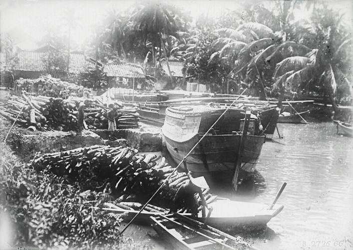 Củi gôc khai thác ở địa phương sau đó tập kết trên sông để vận chuyến đến các khu vực trong Sài Gòn và một số khu vực lân cận khác