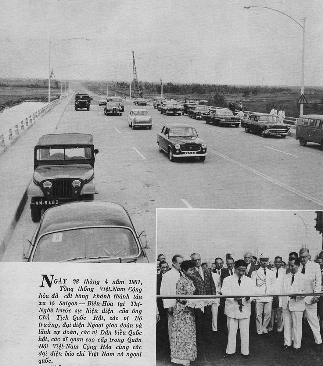 Lễ cắt băng khánh thành xa lộ Sài Gòn Biên Hòa