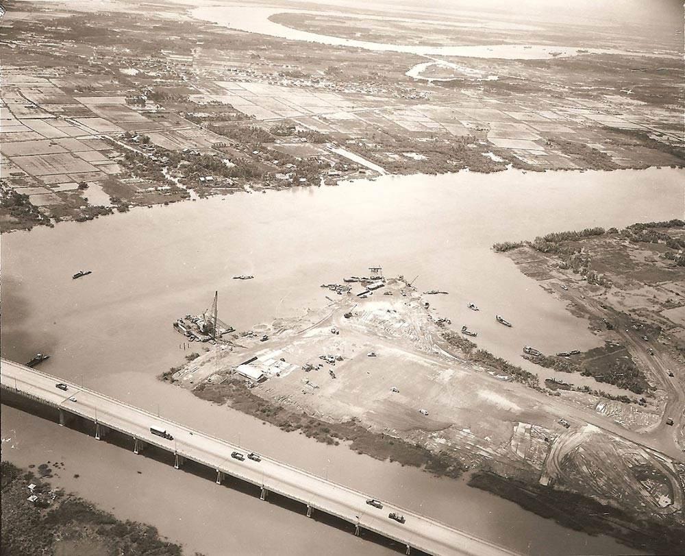 Hình ảnh gian đoạn xây dựng Tân Cảng