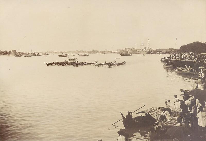 Lễ hội đua thuyền trên sông Sài Gòn tháng 7-1902